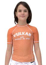 Load image into Gallery viewer, FIRST SHORT SLEEVE KIDS RASHGUARD ORANGE
