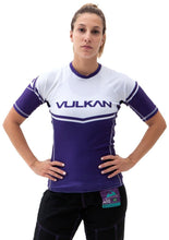 Load image into Gallery viewer, POWER COMP RASHGUARD SHORT/SLEEVE PURPLE