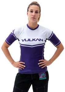 POWER COMP RASHGUARD SHORT/SLEEVE PURPLE