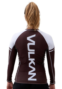 POWER COMP RASHGUARD LONG/SLEEVE BROWN