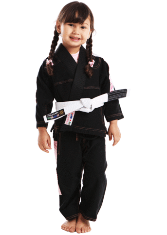 ULTRA LIGHT KIDS JIU JITSU GI (BLACK/PINK)