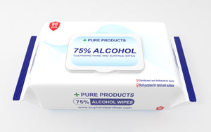 75% ALCOHOL Cleansing Hand & Surface Wipes (80 wipes per pack)