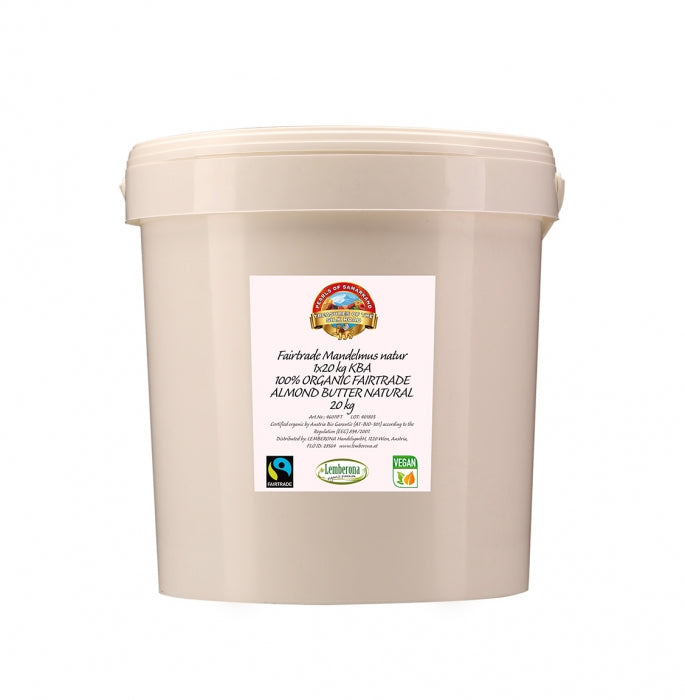 100% Organic Fairtrade Almond Butter natural brown 20kg