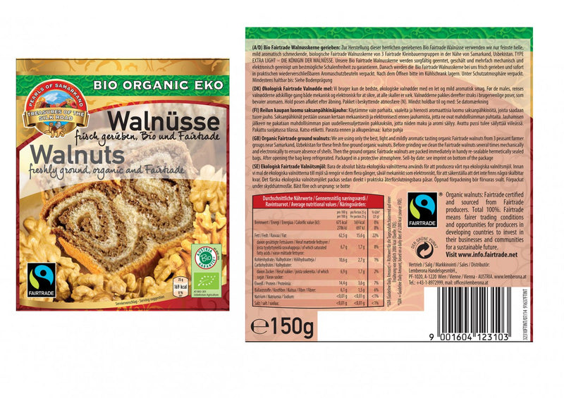 Organic FAIRTRADE Walnuts extra light ground