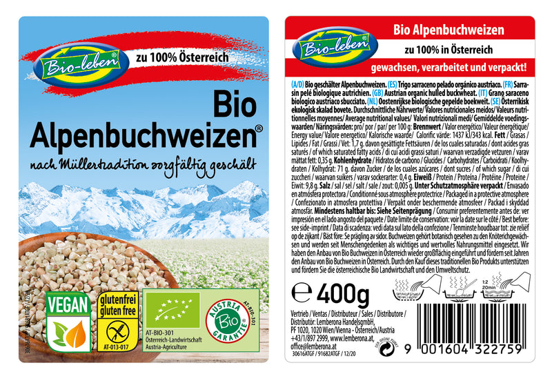 Buckwheat organic from Austria