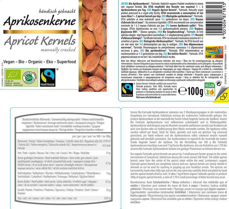Organic FAIRTRADE Apricot Kernels