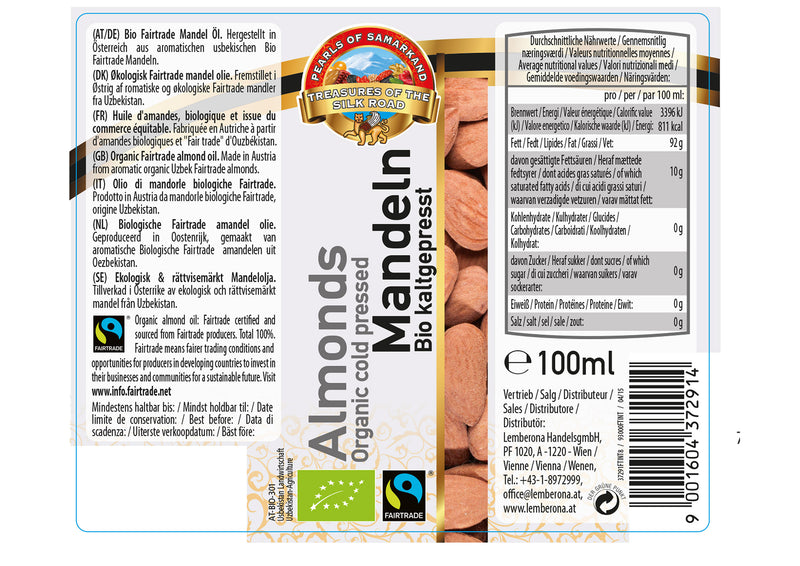 Organic FAIRTRADE Almond Oil