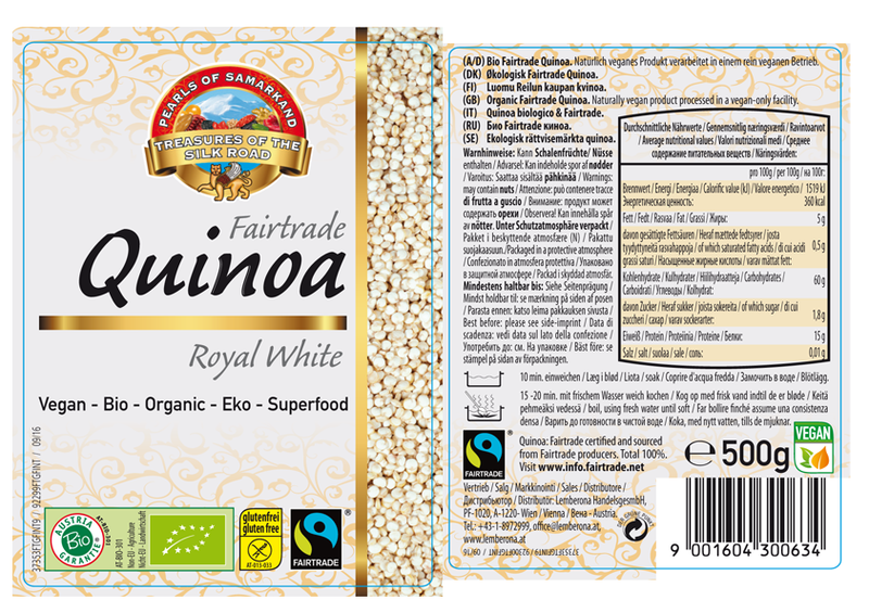 Organic FAIRTRADE Quinoa Royal gluten free