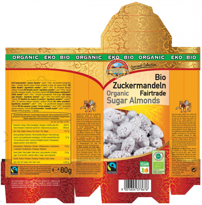 Organic FAIRTRADE Sugar Almonds from Uzbekistan