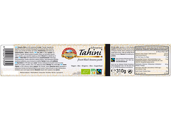 Organic FAIRTRADE Tahini BLACK gluten free