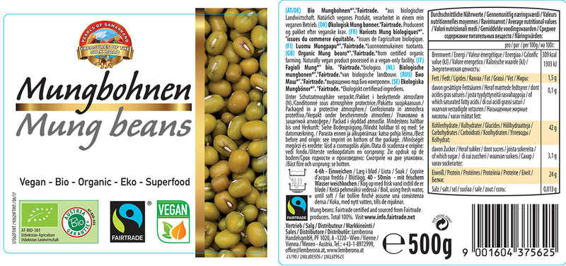 Organic FAIRTRADE Mung Beans