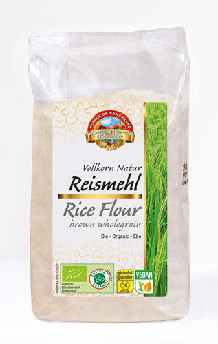 Organic brown rice wholegrain flour gluten free