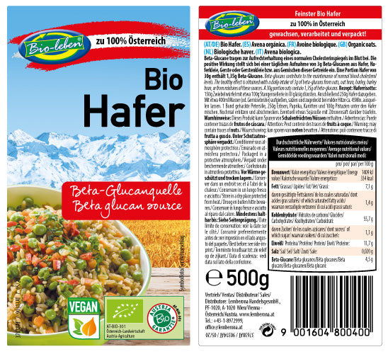 Oat organic from Austria