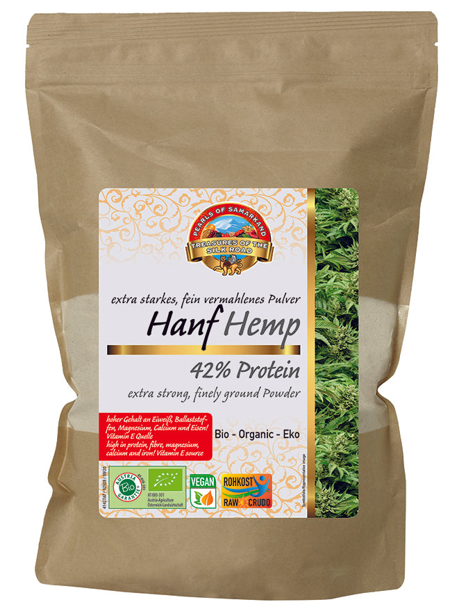 Organic Hemp 42% Protein Powder 1 kg Flour Low carb Gluten Free Vegan Plant Based