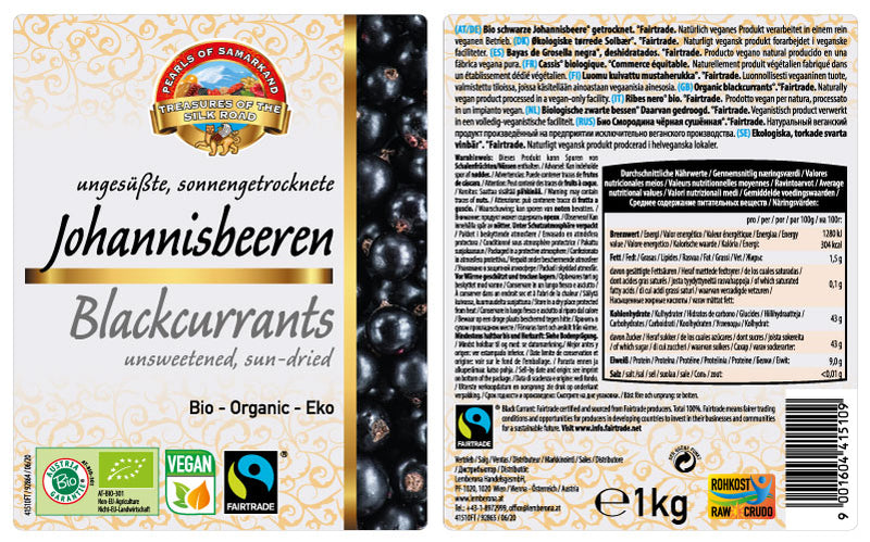 Blackcurrants Fairtrade Organic