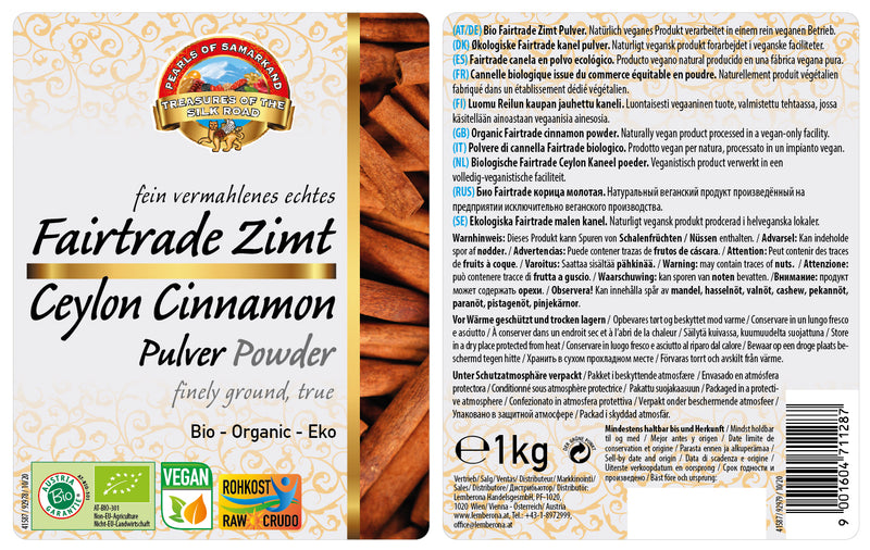 Organic real Ceylon cinnamon powder
