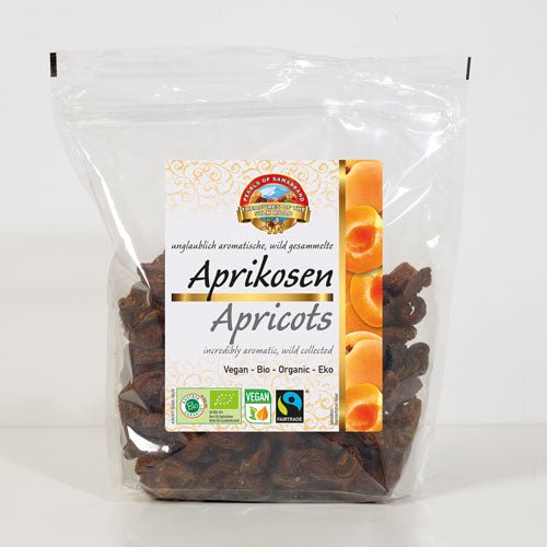 Organic sun-dried wild Kuraga® apricots halves  extra large Fairtrade