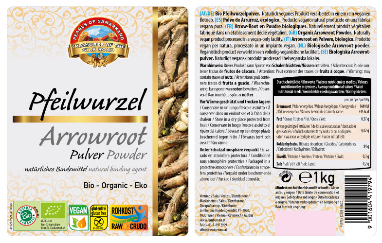 Organic Arrow root powder
