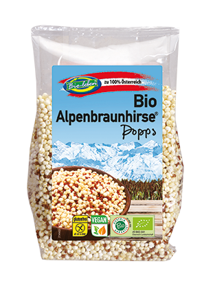Brown millet puffs / popped AUSTRIA organic