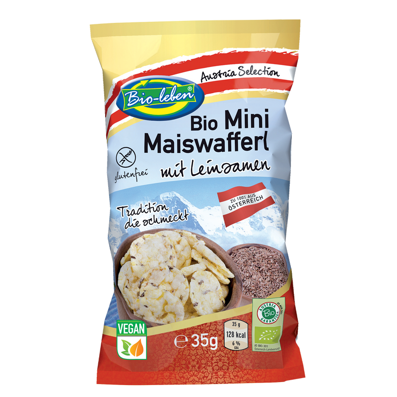 Organic Mini Corn Waffers Linseed
