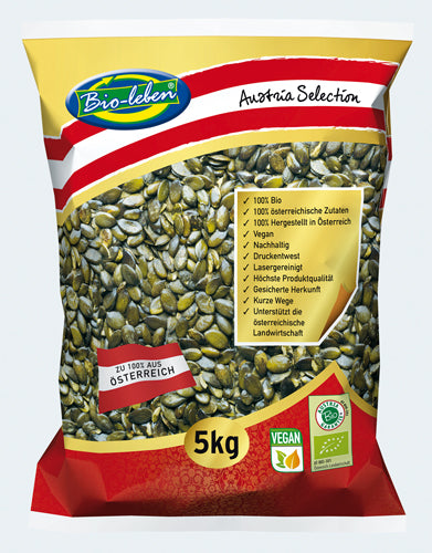 Organic Roasted and salted pumpkin seeds gluten free Austria