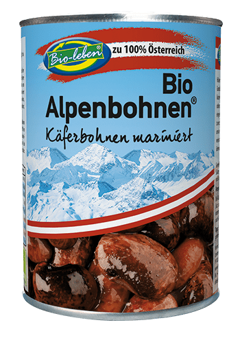 Organic Austrian giant sprekled beans ready-to-eat canned 6*400 gr