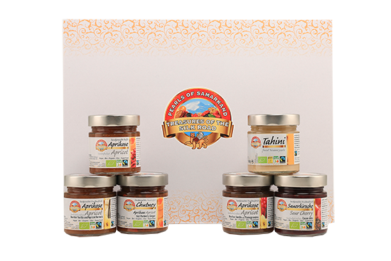 Organic Fairtrade glass jars – chutneys, spreads and Tahini