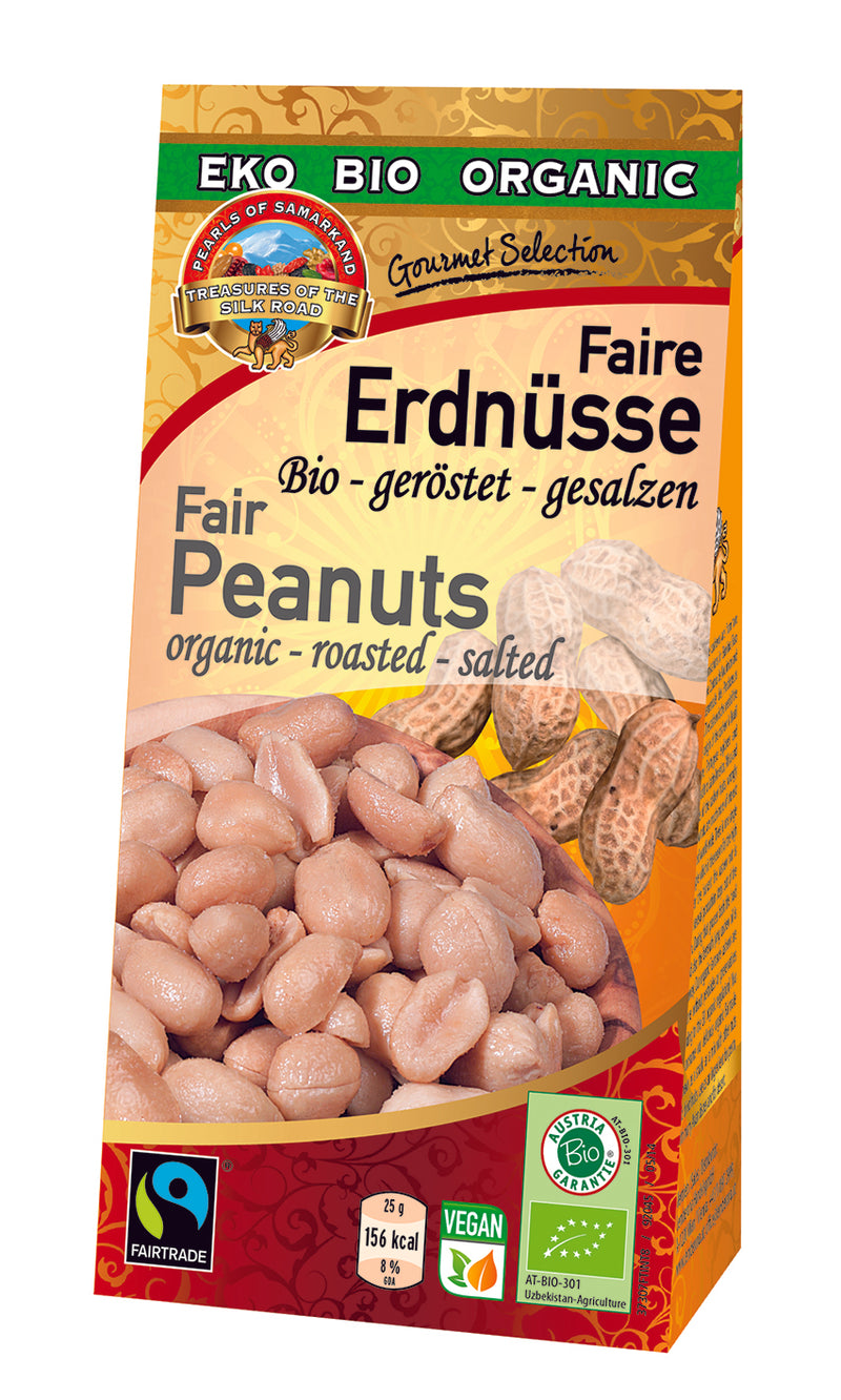 Organic FAIRTRADE roasted salted peanuts gluten free