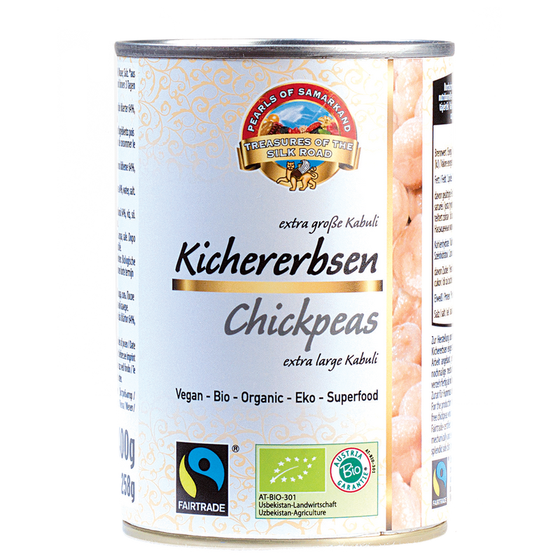 Organic FAIRTRADE Chickpeas canned gluten free 6*400gr