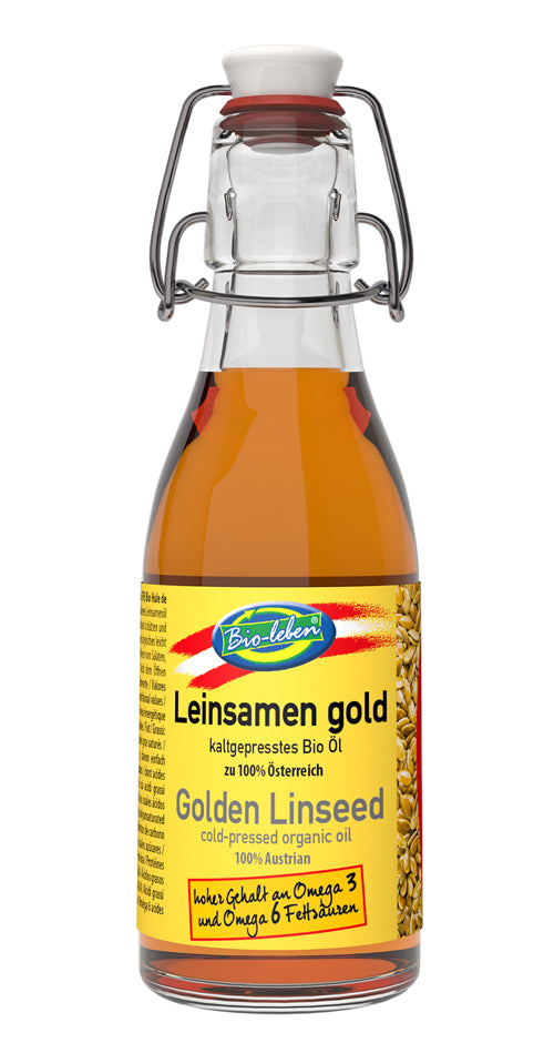 Golden linseed oil organic from Austria