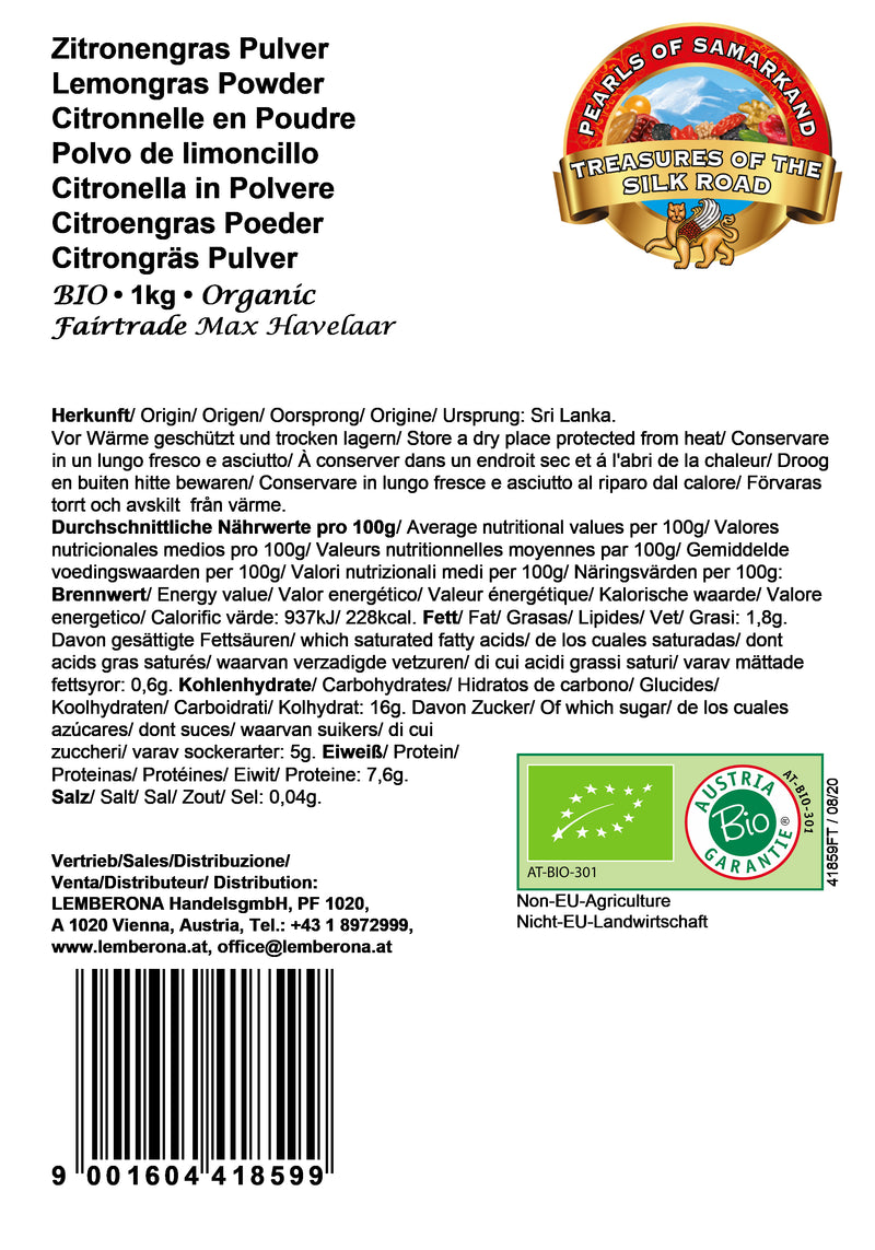 Lemongras Powder Organic Fairtrade