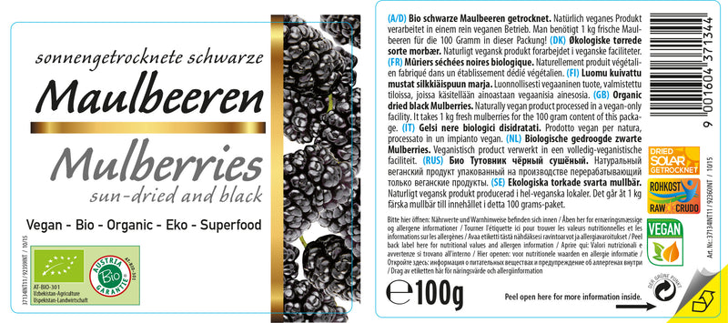 Organic Black Mulberries