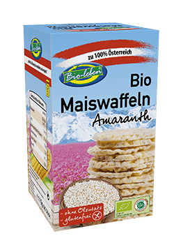 Organic corn waffers amaranth glutenfree