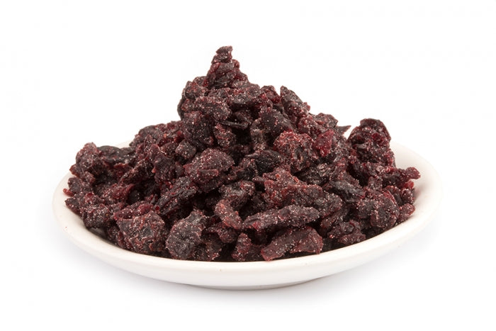 Organic Sour cherries diced with rice flour