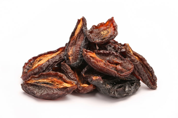 Organic dried wild prune halves, truly raw, Uzbekistan