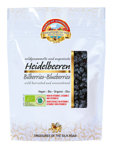 Organic Bilberries, Unsweetened Wild Collected Blueberries