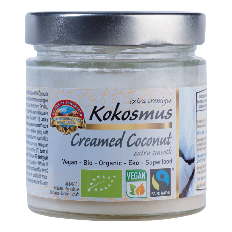 Organic RAW Creamed Coconut Butter Extra Smooth Fairtrade Made in Austria from Sri Lanka Coconut