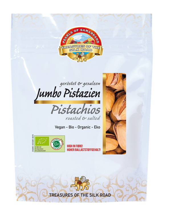 Pistachios with shell roasted salted Organic