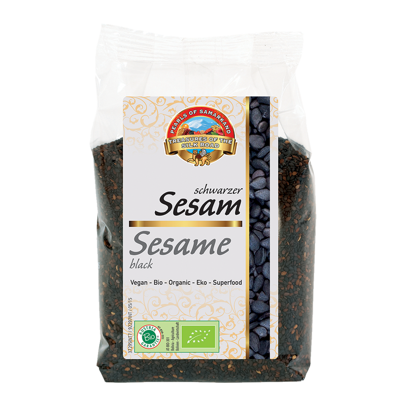 Organic black sesame seeds (330g packs)