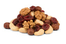 Organic Trail Mix with cranberries and raw unroasted nuts, without raisins
