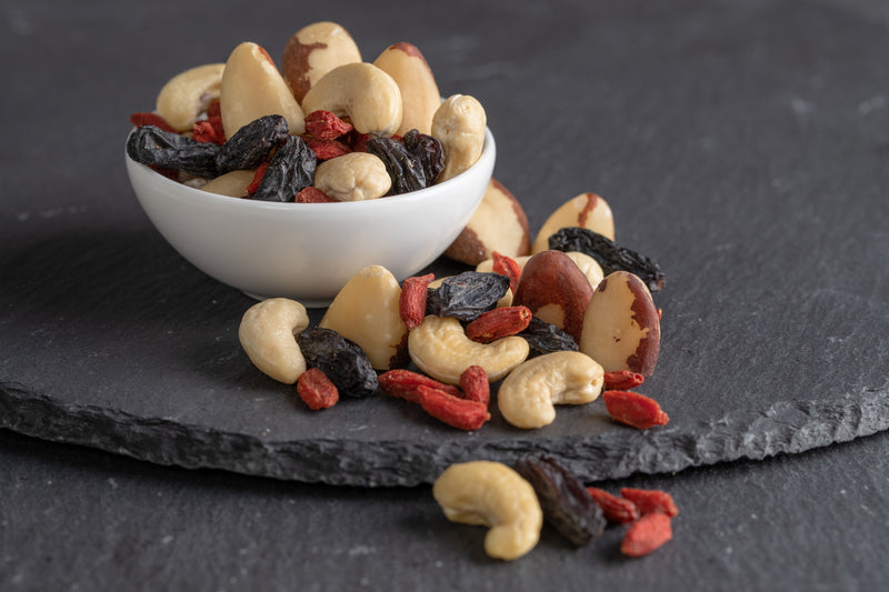 Organic Cashew-Brazil nut-Black Bukhara raisin-Goji mix