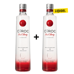 PACK 2 CÎROC VODKA RED BERRY 0,7L (37,5% Vol.)