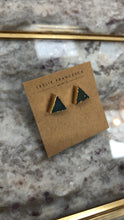 Load image into Gallery viewer, TRIANGLE DRUZY STUDS
