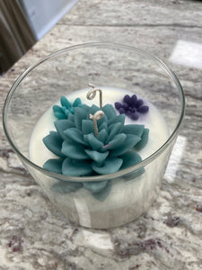 Soy Succulent Candle