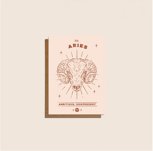 Aries Zodiac Card