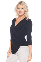 Load image into Gallery viewer, 3/4 Sleeve Surplice Top
