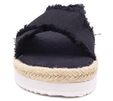 Load image into Gallery viewer, Black Espadrille Sandal