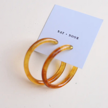 Load image into Gallery viewer, Amber Hoops
