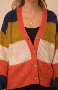 O'Lilly Color-block Cardigan