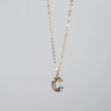 Load image into Gallery viewer, Abalone Initial Necklace